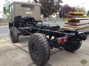 Chassis of our STEYR 12M18 after sandblasting