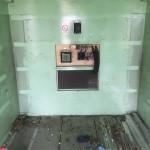 Shelter aluminum rails removed