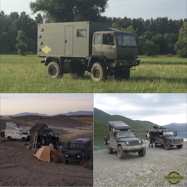 The different overland vehicles from Terratrotter