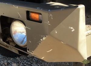 Scratches on bumper Steyr