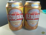 Two cans of Croatian beer