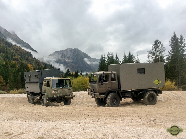 DAF and STEYR offroading in Italy