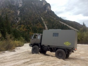 STEYR12M18 off-roading in river bed