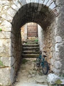 small pedestrian tunnel in Beli