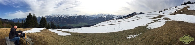 Panorama from Swiss Alps