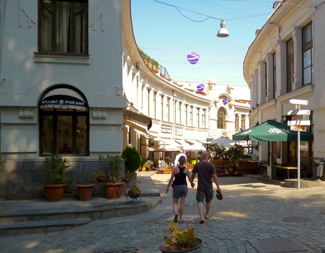 walking hand in hand in Georgia