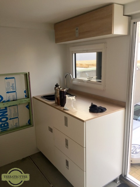 Kitchen in our Expedition Truck