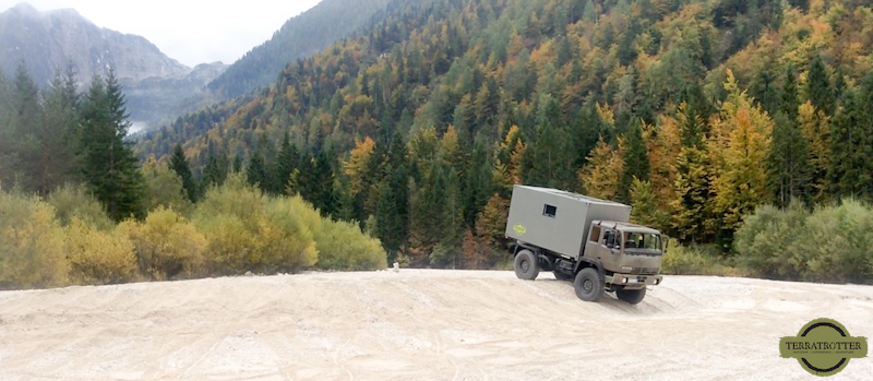 Terratrotter STEYR12M18 Expedition Truck Offroading