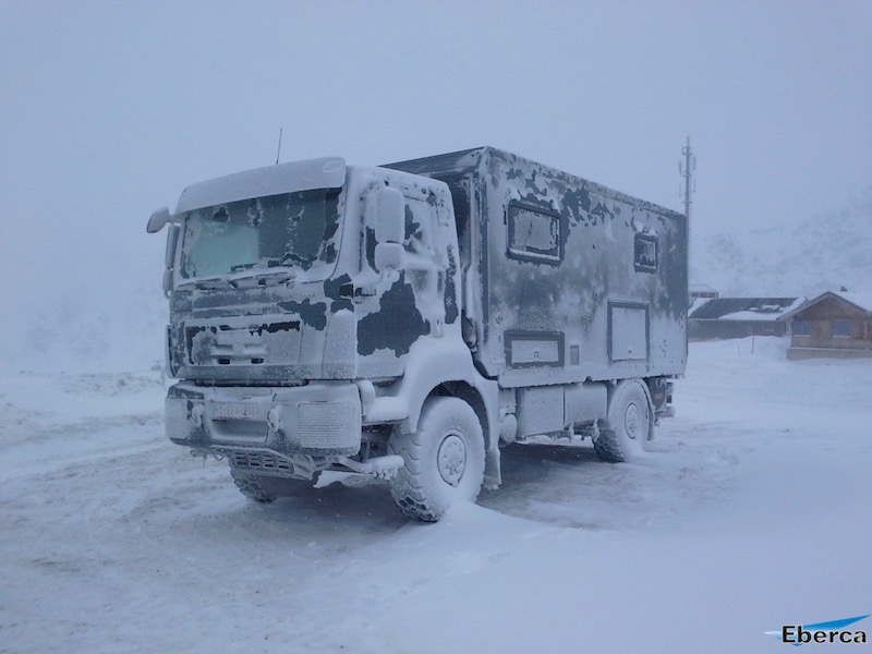 MAN expedition vehicle winter