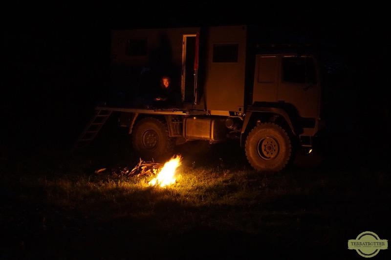 Campfire in Romania