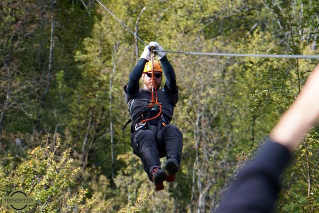 Ziplining in Bovec Slovenia