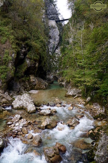 Tolminska Korita Gorge in Slovenia