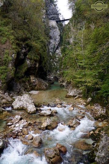 Tolminska Korita Gorge in Slovenia