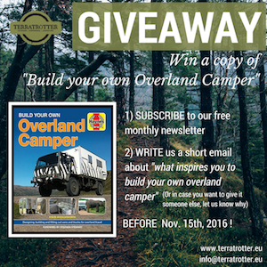 GiveAway, Build Your Own Overland Camper
