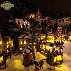Christmas village decoration