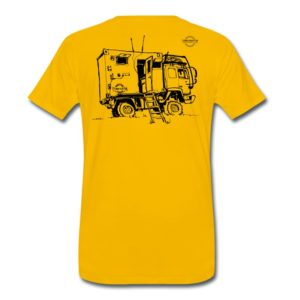 sketch expedition truck terratrotter | mens t-shirt