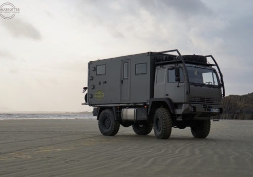Expedition Truck on Beach