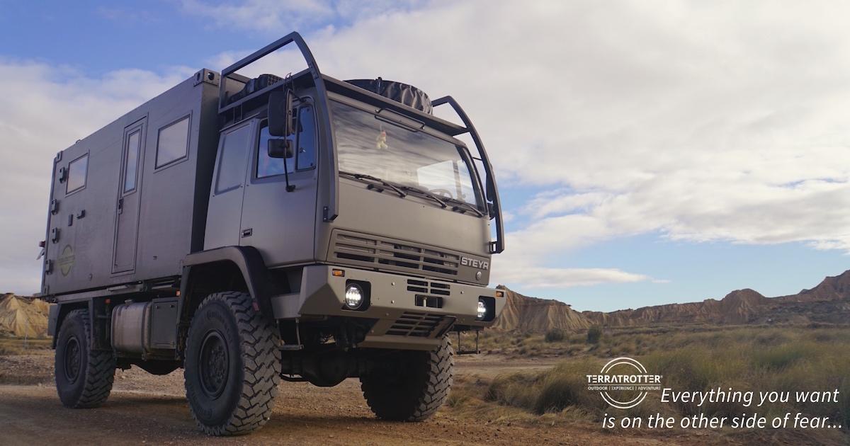 unique expedition truck for sale terratrotter. Black Bedroom Furniture Sets. Home Design Ideas