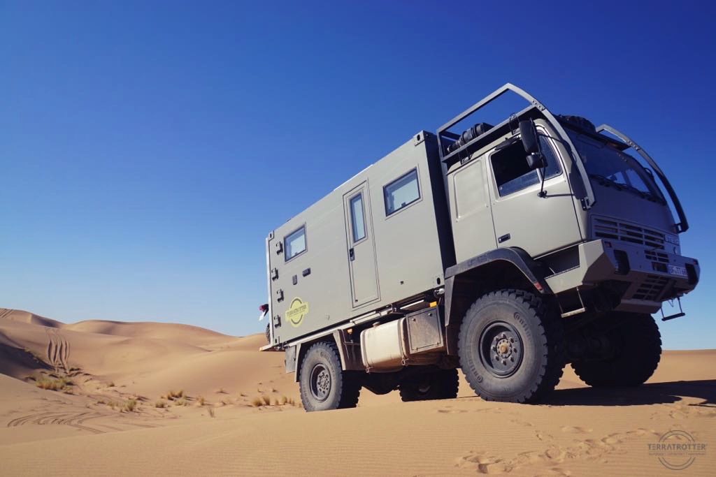 Full size expedition truck in dessert